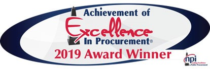 Achievement of Excellence in Procurement Award Winner