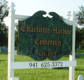 Charlotte Harbor Cemetery Entrance sign photo